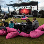 Bean bags provided at MONA for outdoor concerts, and buy the wine and beer from their winery and brewery