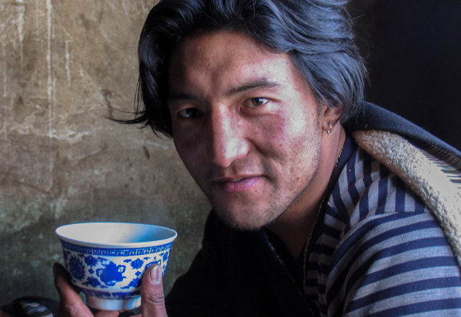 Tea time for Tibetans